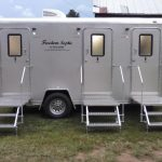 Bathroom trailer for outdoor weddings