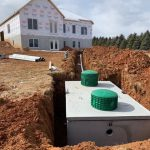 Septic system installation on new build