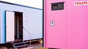 Portable restrooms for event
